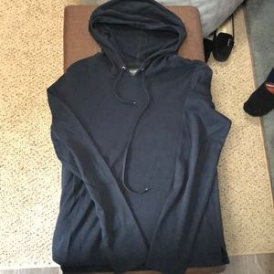 Banana Republic Black Hooded Pullover